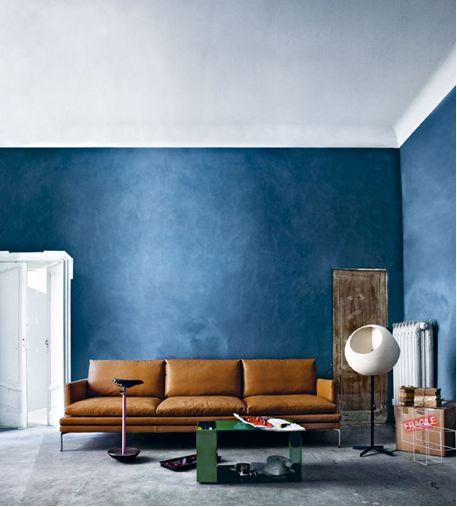 Canapé droit William / Cuir - 3 places - L 266 cm
