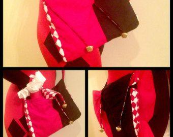 Ame Comi Red and Black Steampunk Harley Quinn Messenger Bag / Purse
