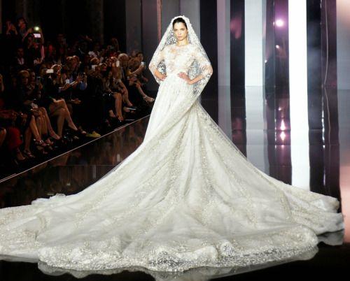 Hanaa Ben Abdesslem  At Ralph & Russo Haute Couture Fall/Winter 2014-15!
