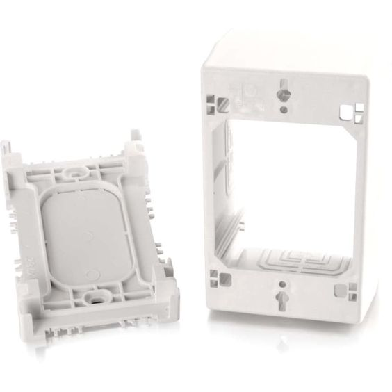 C2g Wiremold Uniduct Single Gang Extra Deep Junction Box White Cables To Go Junction Boxes Plates On Wall Break Room