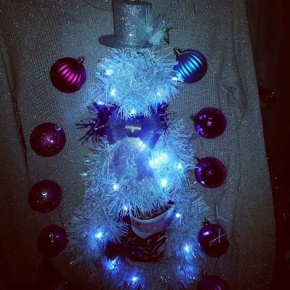 """Ugly Christmas Sweater """"newlywed snow bride""""""""sacsuglychristmassweaterscouture.com"""