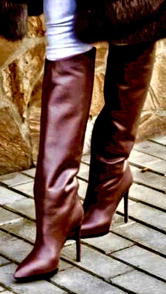 Pin van Drew James op Laarzen | Laarzen, Bruine laarzen, Dij hoge ...