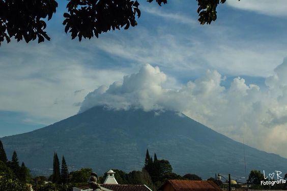 Volcán, belleza de un país, Guatemala, antigua, paisaje, montaña, atardecer