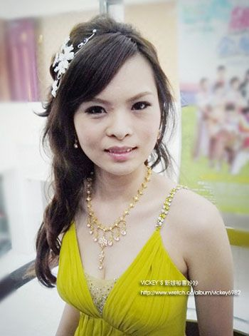 Bridal Hairstyle &amp Yellow Wedding DressYeah - Hairstyle For Wedding