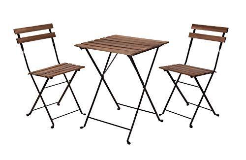 Tectake 402936 Salon De Jardin 2 Chaises Et 1 Table Mobilier De Salon Table Et Chaises