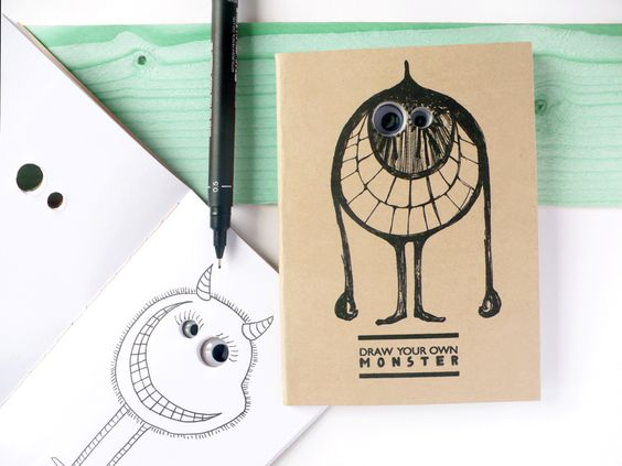 draw your own monster notebook -