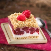 Frozen Raspberry & Cream Squares