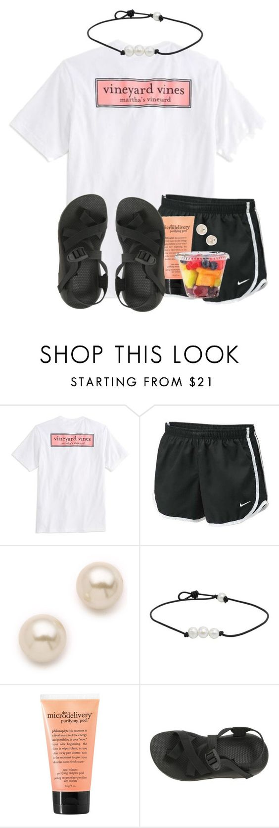 """""""im wonderstruck, blushing all the way home"""" by ellababy13 ❤ liked on Polyvore featuring мода, Vineyard Vines, NIKE, Juliet & Company, philosophy, Chaco и pearlwearinprepsauditions"""