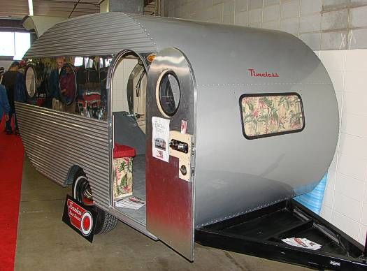 Small Vintage Campers   Timeless Travel Trailers restored this old toy  hauler  No bathroom  no       Places I d Like to Go camping   Pinterest    Toy hauler. Small Vintage Campers   Timeless Travel Trailers restored this old