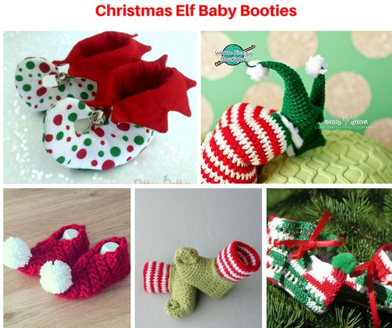Christmas Elf Baby Booties