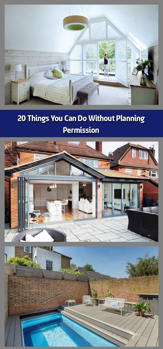 20 Things You Can Do Without Planning Permission There Are Many Home Improvements You Can In 2020 Planning Permission Agricultural Buildings Building A Swimming Pool