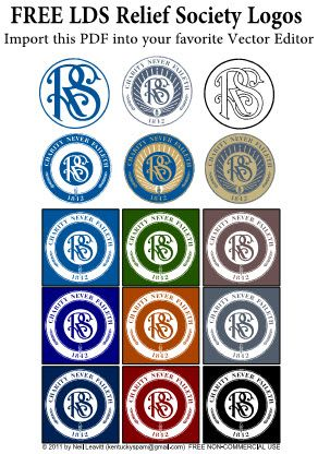 Free Relief Society Logos/Clipart... wish I had seen this 2 months ago... I was looking for it then!