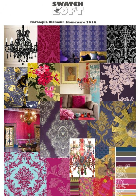 The Beautiful Baroque period of architecture bought us bold and glamorous patterns, shapes and textiles.  Everything was grand and pretty.  This is once again become an an enormous trend within our homes and on our catwalks.  Think bold flower prints, classic chandeliers and baby cherubs. The trend is border line religious buildings meets glamour, with baroque pieces drenched in bright rich colours that make a historic yet contemporary statement.