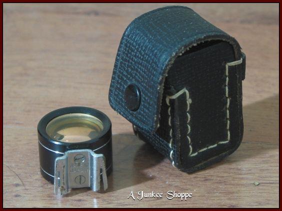 Kaligar Tele Wide Range Finder Camera External Shoe View Finder With Case Antique   https://ajunkeeshoppe.blogspot.com/