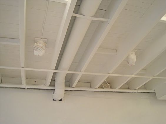 Painted basement ceiling - white. if we leave unfinished, I do like the white better than black.