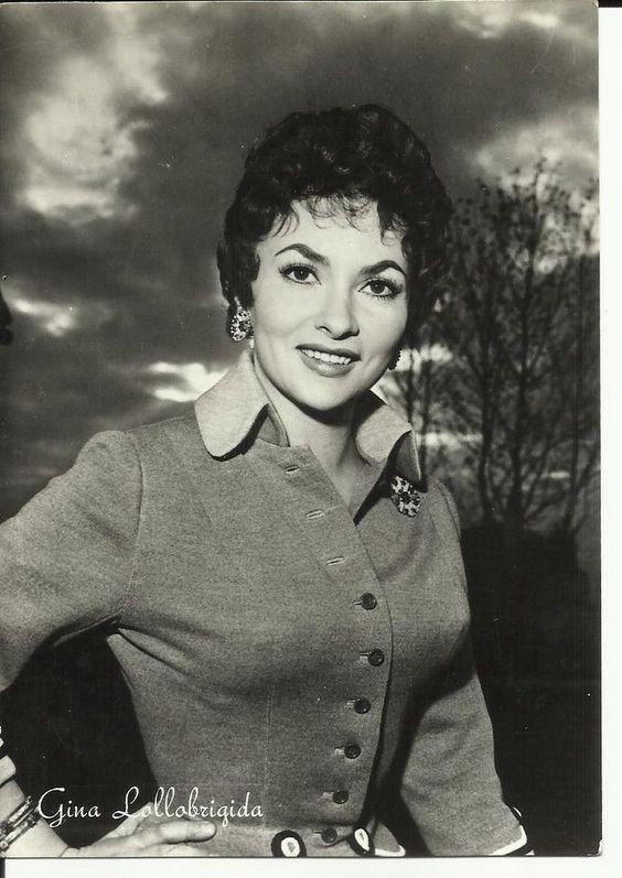 Cartolina Epoca Vintage Attori Attrici Attrice Fotografica Gina Lollobrigida | eBay