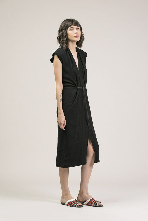 Vision Dress, Black by Miranda Bennett #kickpleat #mirandabennett