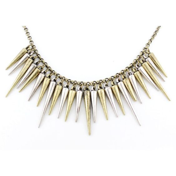 Special Cool Silver and Gold Bullets Necklace. $3.99, via Etsy.