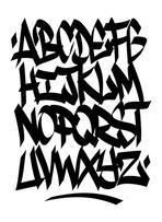 Hand written graffiti font type. Vector alphabet