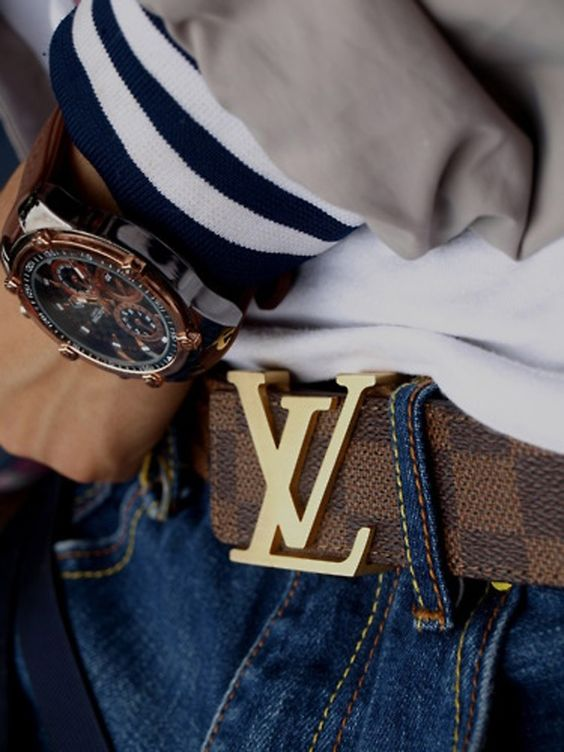matching belt buckle with wrist watch