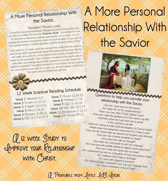personal relationship with the savior lds child