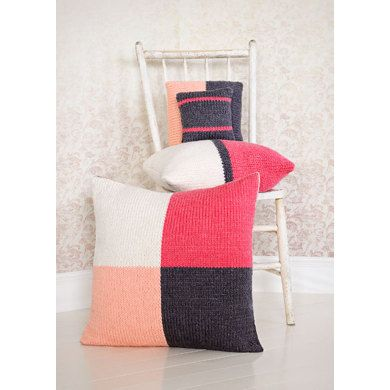 4 Squared Pillows in Spud & Chloe Outer - 9211 (Downloadable PDF) | Knitting Patterns | LoveKnitting