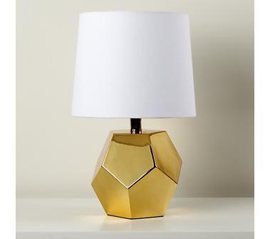 gold geo lamp