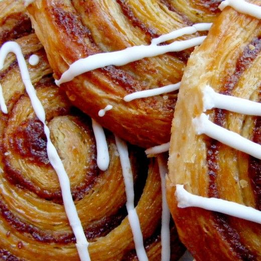 How to make Danish Pasteries - Cinnamon Whirls or Apple, Raisin & Cinnamon Whirls or are they strudles? + a cheats way