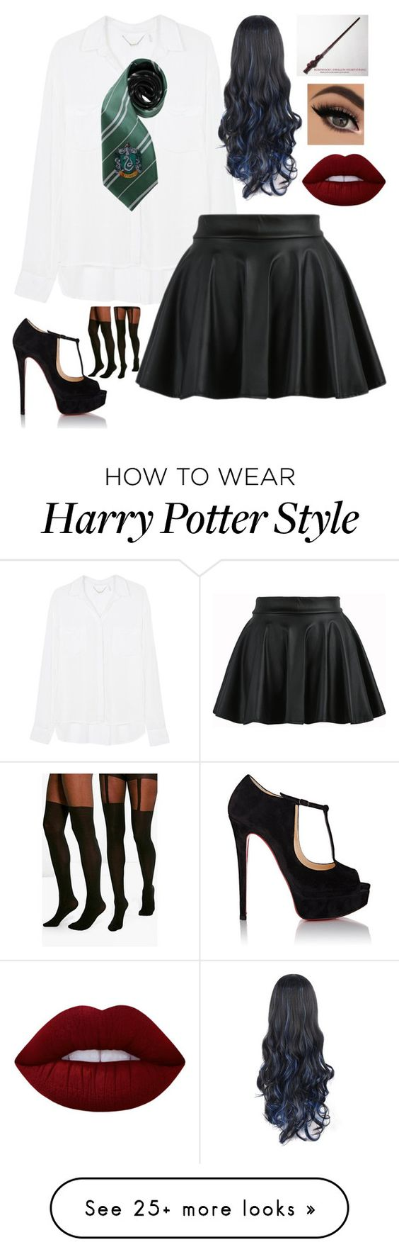 """""""Untitled #1724"""" by tokyoghoul1 on Polyvore featuring Young, Fabulous & Broke, Christian Louboutin, Boohoo and Lime Crime"""