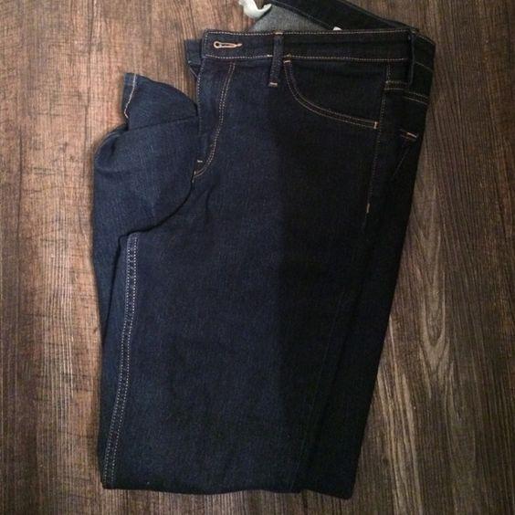 Skinny ankle jeans Dark wash skinny jeans H&M Pants Skinny