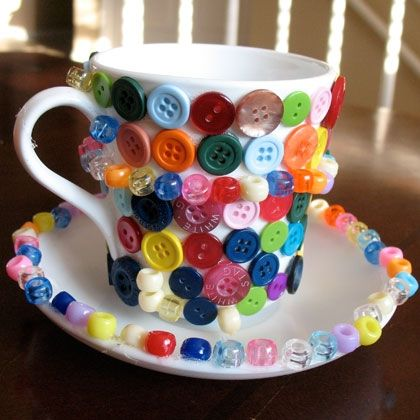Bead and Button Teacup