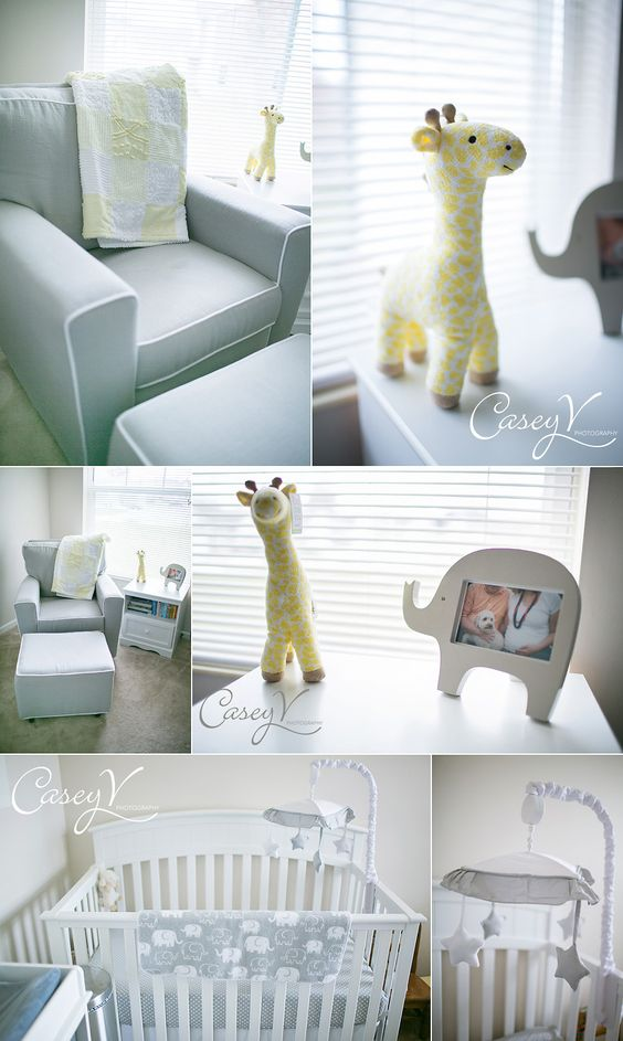 Neutral baby nursery gray baby nursery easy to add some pink or blue after the little one is - Simple baby room ...
