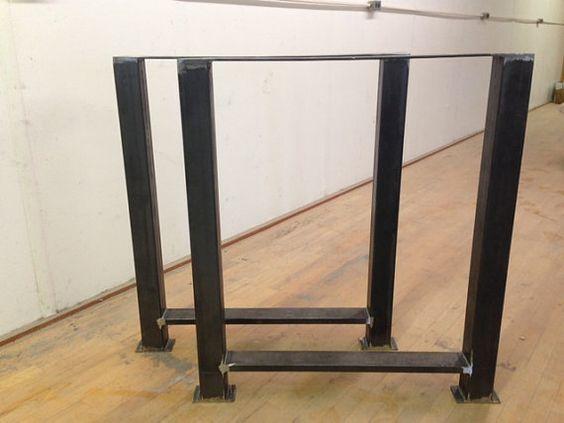 3 Industrial Metal Legs by BlueRidgeMetalWorks on Etsy, $199.99