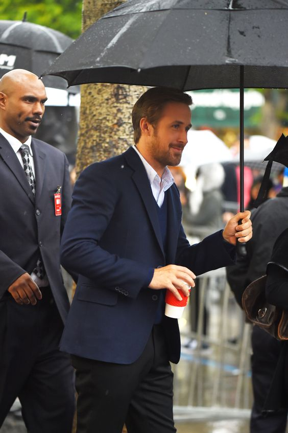 Ryan Gosling at Steve Carell's Walk of Fame ceremony