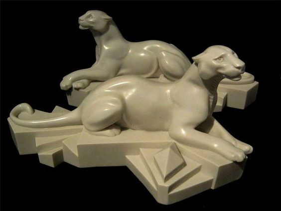 Art Deco Panthers by L.P Trudeau