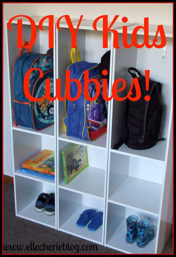 DIY Kids Cubbies                                                                                                                                                     More