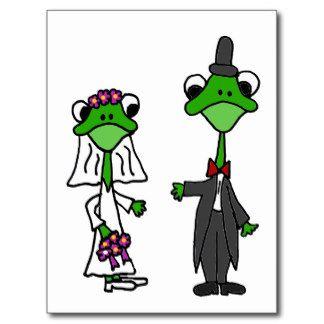 Design do casamento dos noivos do sapo do cartão postal
