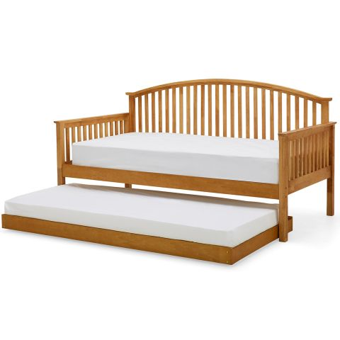 Madrid Wooden Day Bed With Trundle Next Day Delivery Madrid