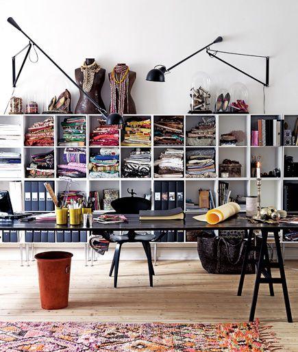Espace de travail pour couturière et créatrice