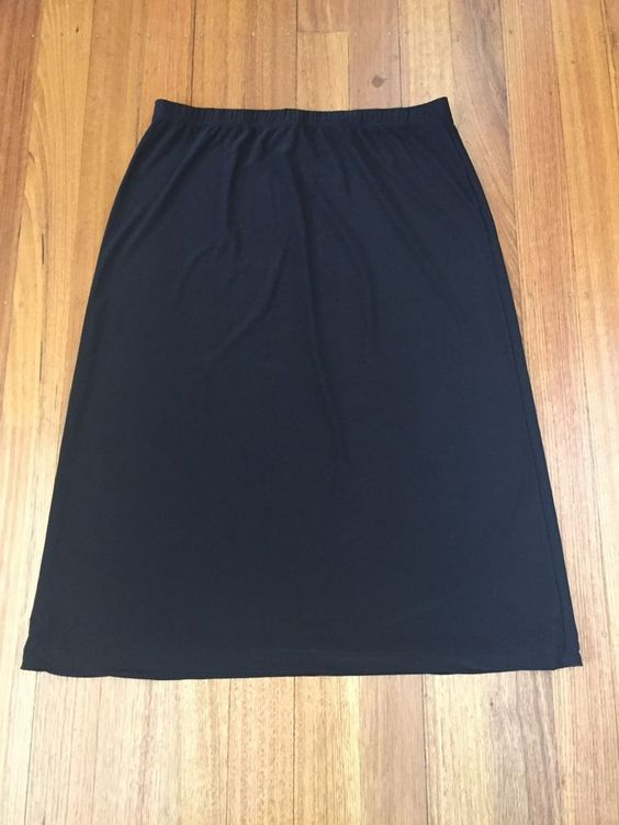 Details about Rosanna-Black Stretch Travel-Midi Skirt-Size 20