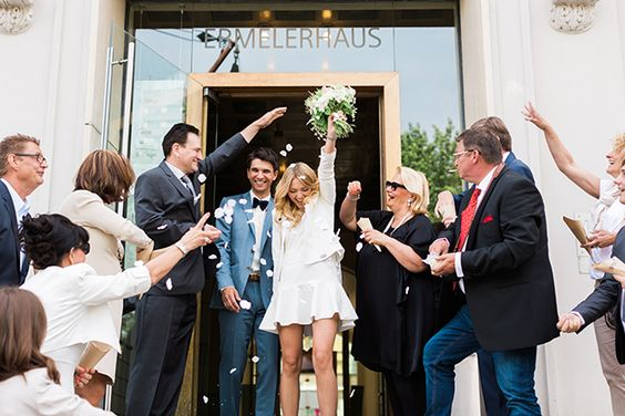 Woo-hoo! We did it! Love this 'just married' shot by Ashley Ludaescher Photography: