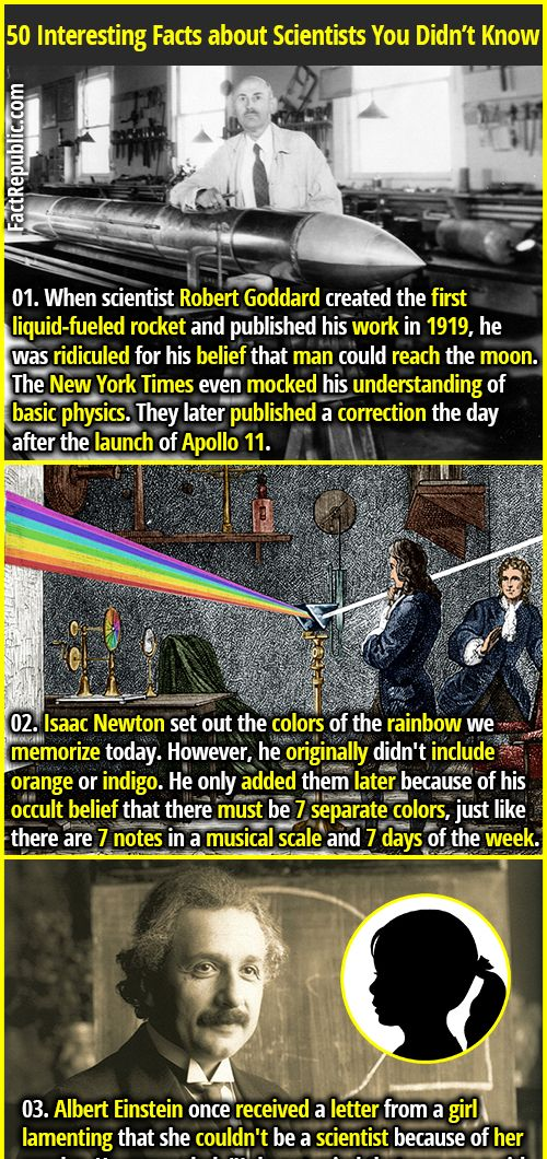 50 Interesting Facts About Scientists Fact Republic Fun Facts Facts Basic Physics