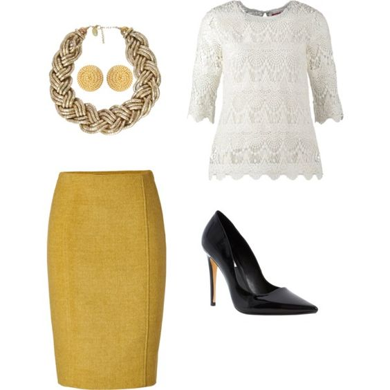 A fashion look from November 2014 featuring Joules sweaters, Jonathan Saunders skirts and Dune pumps. Browse and shop related looks.