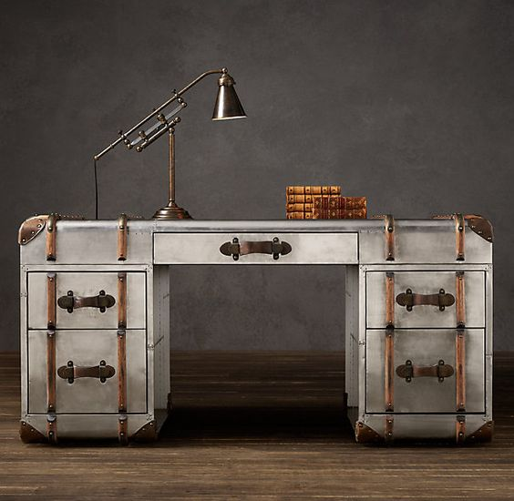Restoration Hardware Richards Trunk Coffee Table: Richards Metal Trunk Desk By Timothy Oulton At Restoration