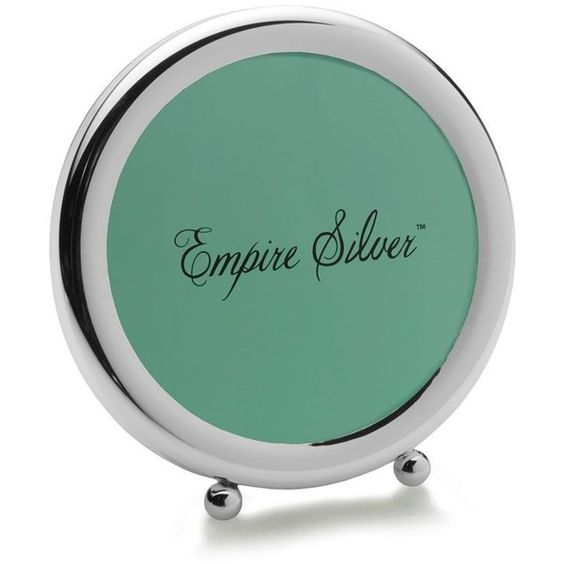 Empire Silver™ Ball Feet Round Sterling Frame ($100) ❤ liked on Polyvore featuring home, home decor, frames, sterling picture frames, sterling silver frames, sterling silver picture frames and sterling frames