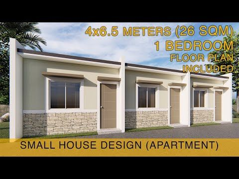 Small House Design Idea Apartment 4x6 5 Meters 26sqm With One Bedroom Youtube Row House Design Small House Design Small Apartment Building