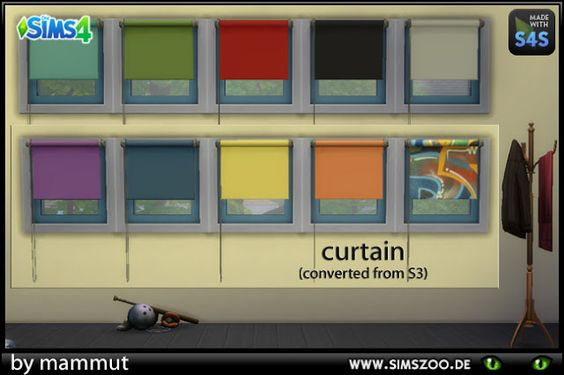 Sims 4 CC's - The Best: Curtain by Mammut