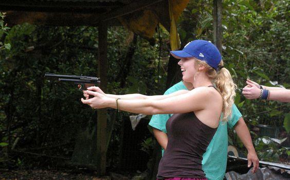 Target Practise - tranq gun so don't panic!