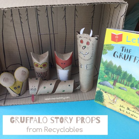 """Gruffalo story props from Recyclables - from Teach Me Mommy ("""",)"""