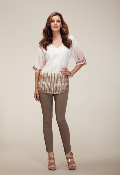 Southern-Charm---Blouse---Rosebloom---9987O-5401-with-Ankle-Pant---Fossil---9881O-5767